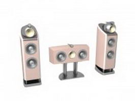 Pink home theatre system 3d model