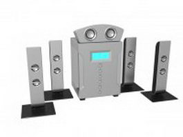 Surround sound home theater system 3d model