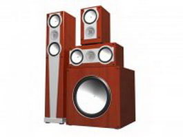 3.1 Surround sound speaker system 3d model