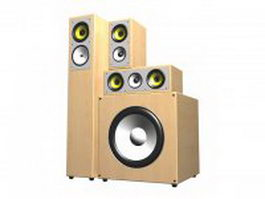 3.1 surround sound speakers 3d model