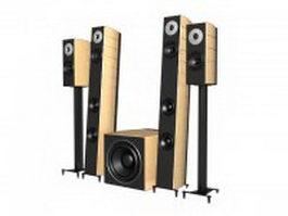 4.1 Speaker system 3d model
