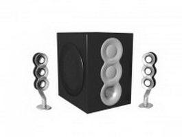 2.1 computer speakers 3d model