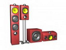 3.1 sound system 3d model