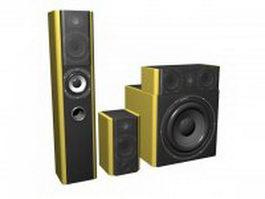 3.1 Speaker System 3d model