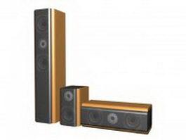 3.1 Speakers 3d model