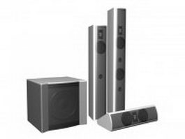 3.1 Surround sound speaker package 3d model