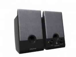 Creative computer speakers 3d model