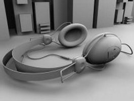 Circumaural headphone 3d model