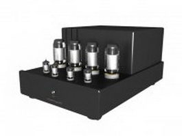 Home power amplifier 3d model