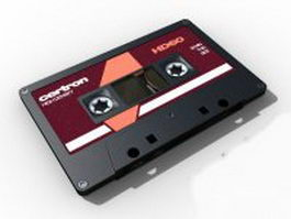 Audio cassette tape 3d model