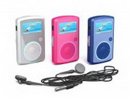 SanDisk MP3-Players And Earphone 3d model