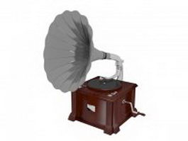 Classical phonograph 3d model