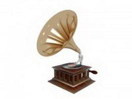Victor V phonograph 3d model