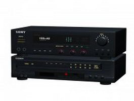 Sony amplifier and VCD player 3d model