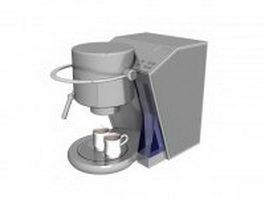 Pump-driven coffee machine 3d model