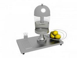 Juicer machine and lemon 3d model