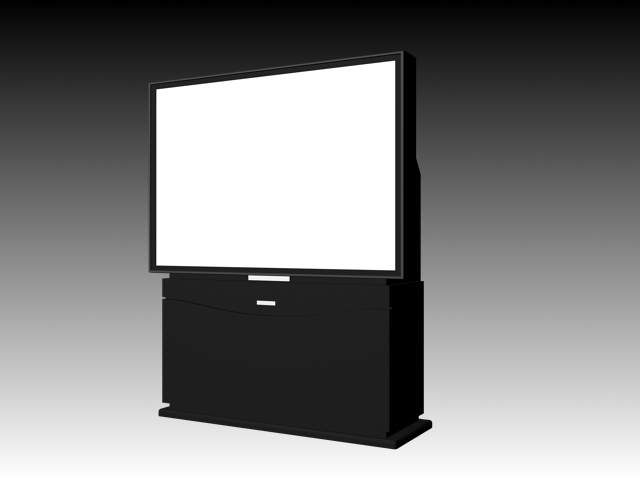 Philips Rear Projection Tv 3d Model 3ds Max Files Free