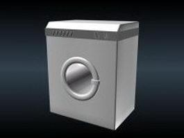 Low poly washing machine 3d model