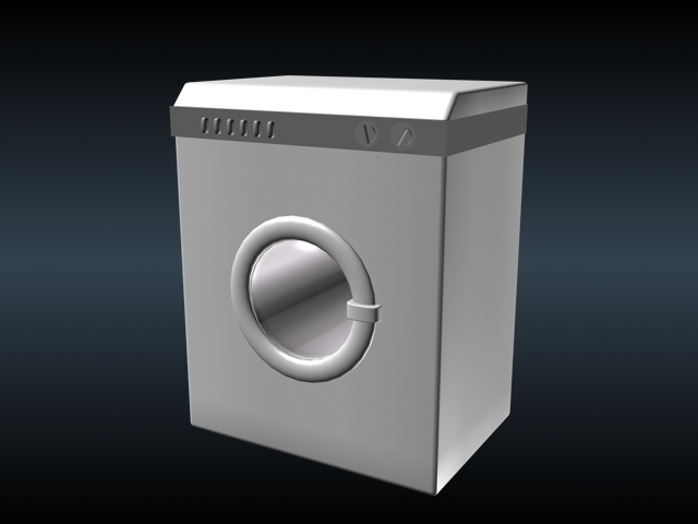 Low poly washing machine 3d model 3ds max files free download ...
