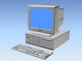 90s desktop computer 3d model