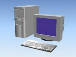 Early desktop PC 3d model