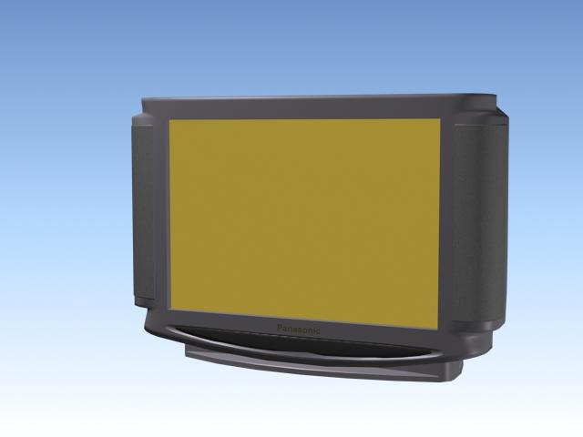 Panasonic widescreen TV 3d model
