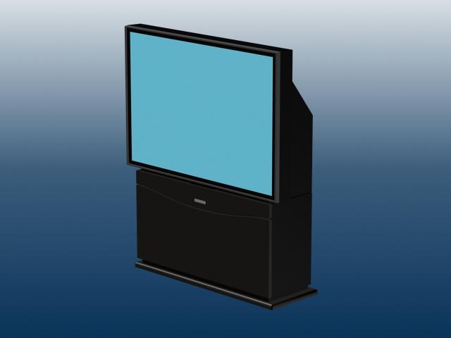 Flat screen CRT projector television 3d model