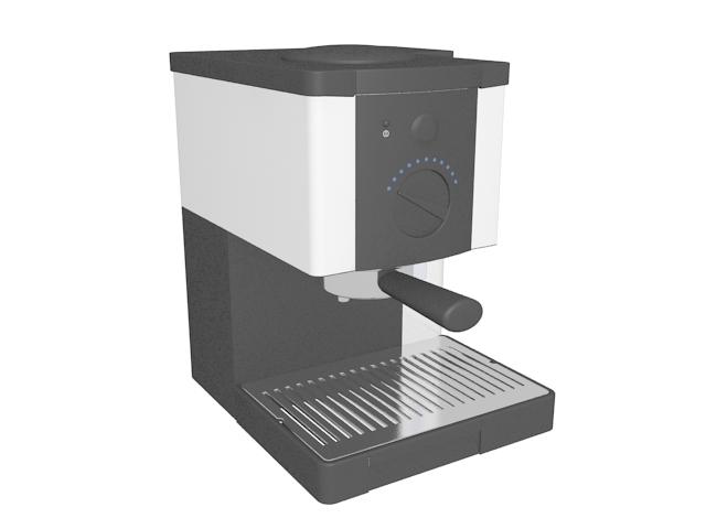 Espresso Coffee Maker 3d Model 3ds Max Files Free Download