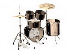 Zildjian drum set 3d model