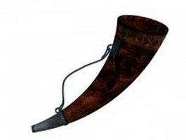 Vintage horn instrument 3d model