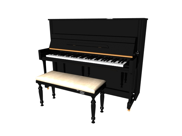 Upright Piano And Bench 3d Model 3ds Max Files Free