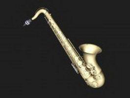 Tenor saxophone 3d model