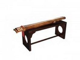 Ancient stringed instrument 3d model
