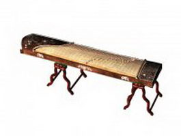 Koto Japanese instrument 3d model