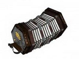 Ireland concertina 3d model