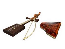 Antique musical instruments 3d model