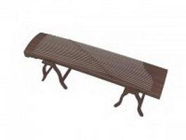 Chinese Guzheng 3d model