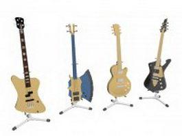Electric guitar set 3d model