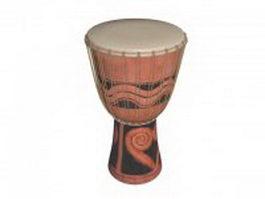 Africa djembe drum 3d model