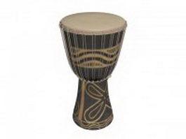 Goblet shaped drum 3d model