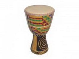 African hand drum 3d model