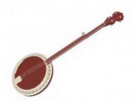 Five-string banjo 3d model