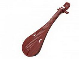 Like lute string instrument 3d model
