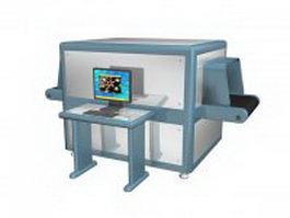 Baggage screening monitoring 3d model