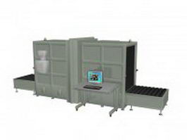 Airport cargo scanning facilities 3d model