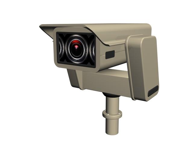 Industrial Surveillance Camera 3d Model 3ds Max Files Free