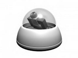 Eye-in-the-sky surveillance dome camera 3d model