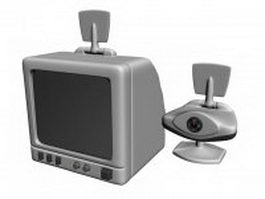 Early webcam and security monitor 3d model