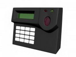 Biometric fingerprint reader 3d model