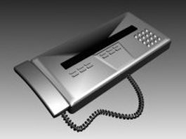 Early fax machine 3d model